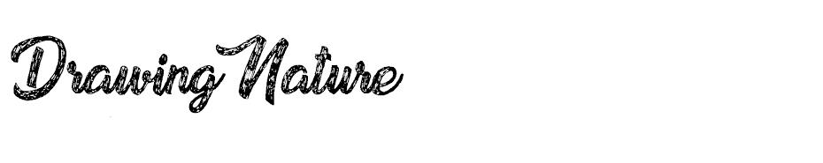 Drawing Nature font