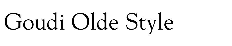 Goudi Olde Style font