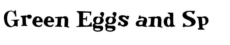 Green Eggs and Spam font