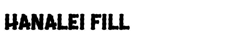 Hanalei Fill Font font