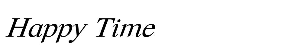 Happy Time font