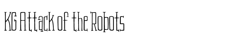 KG Attack of the Robots Font font