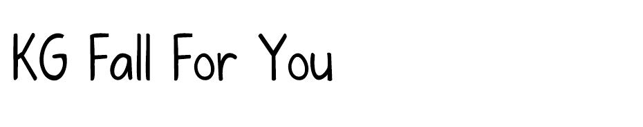 KG Fall For You font