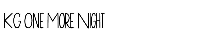 KG One More Night Font font
