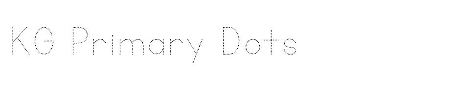 KG Primary Dots font