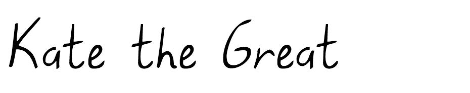 Kate the Great Font font
