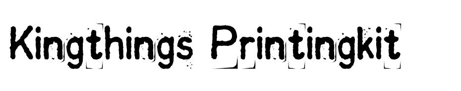 Kingthings Printingkit font