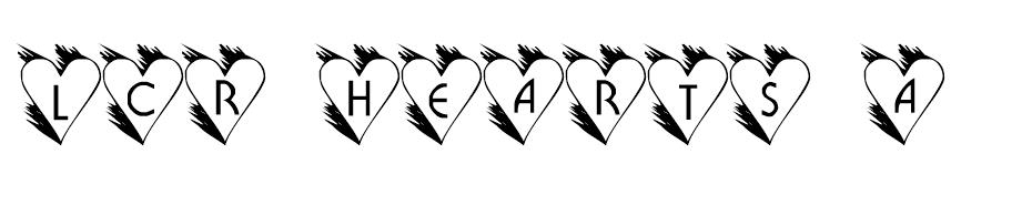 LCR Hearts Afire font