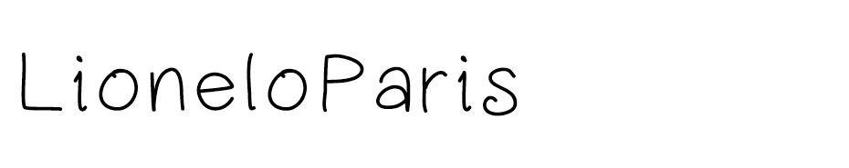 Lionel of Paris font