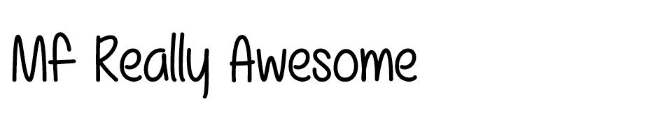 Mf Really Awesome font