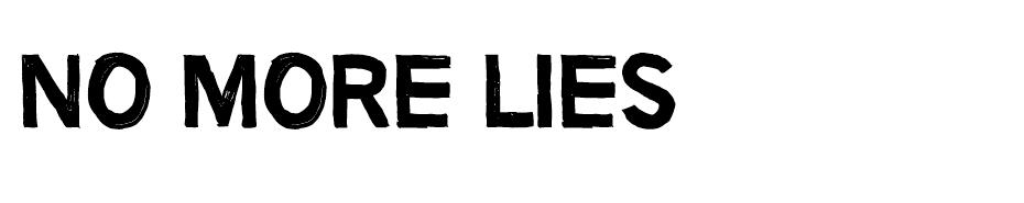 No more lies font