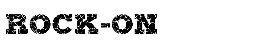 ROCK-ON font