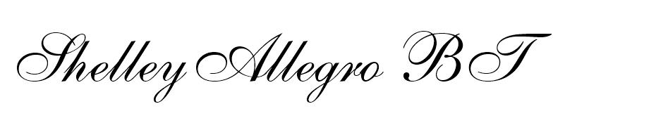 ShelleyAllegro BT font