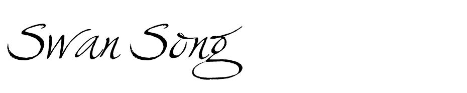 Swan Song font