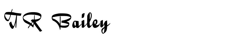 TR Bailey font