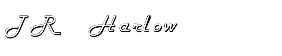 TR Harlow ITC Normal font