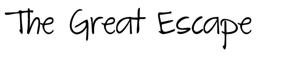 The Great Escape font