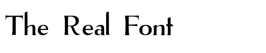 The Real Font font