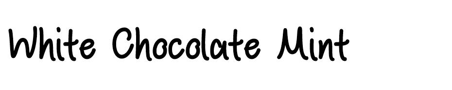 White Chocolate Mint font