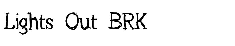 Lights Out BRK font