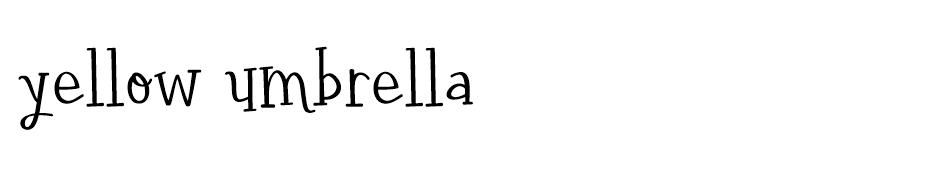 Yellow Umbrella font