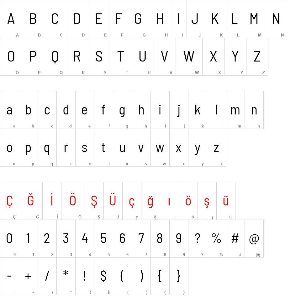 Barlow Semi Condensed font - Barlow Semi Condensed font download