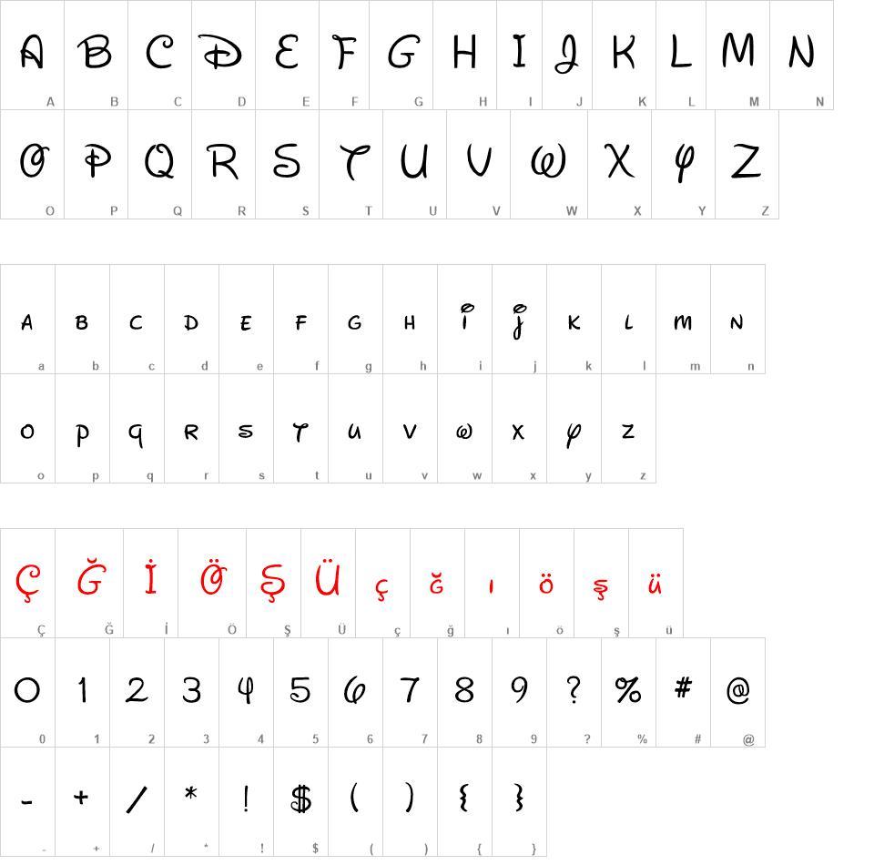 New Waltograph - Walt Disney font - New Waltograph - Walt