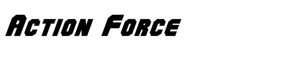 Action Force font