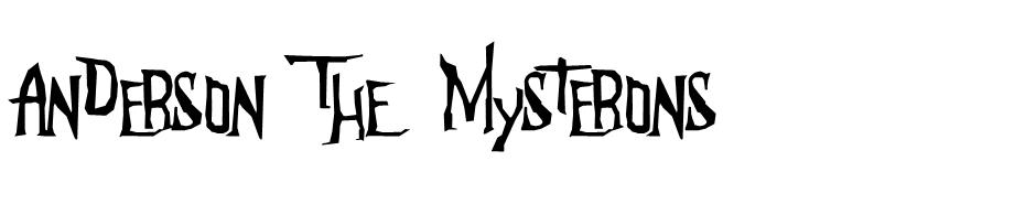 Anderson The Mysterons font
