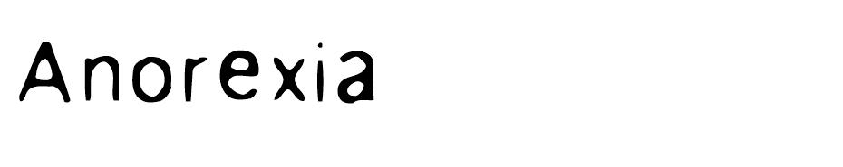 Anorexia font