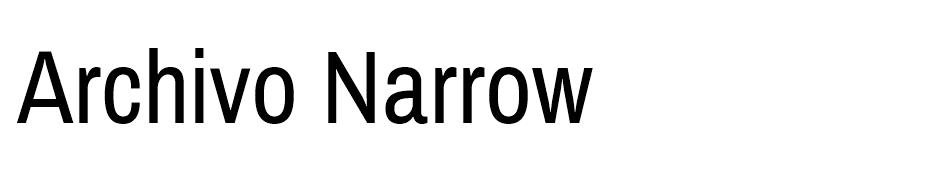 Archivo Narrow Font Ailesi font