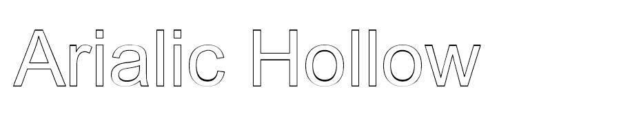 Arialic Hollow font