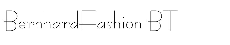 BernhardFashion BT font
