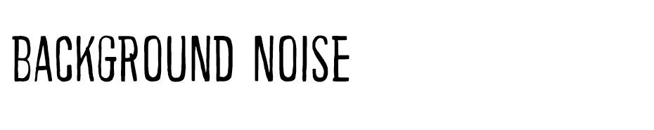 Background noise font