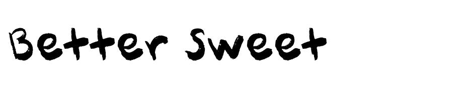 Better Sweet font