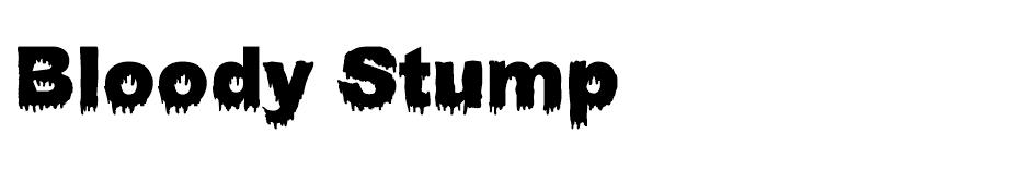 Bloody Stump font