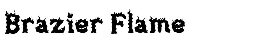 Brazier Flame Font  font