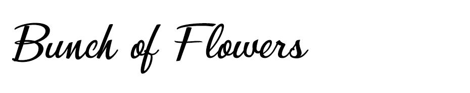 Bunch of Flowers font