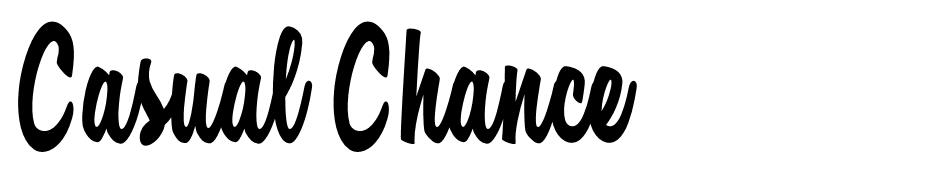 Casual Chance font