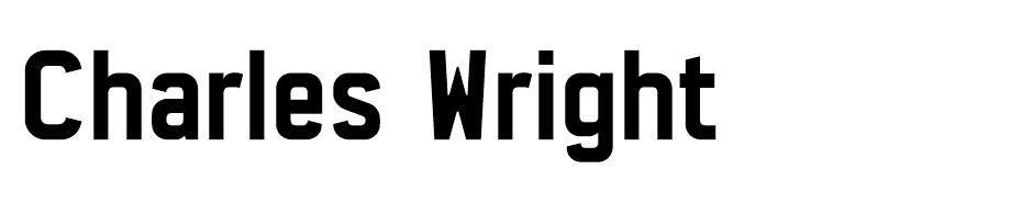 Charles Wright font