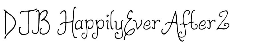 DJB Happily Ever After font