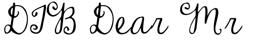 DJB Dear Mr Claus font