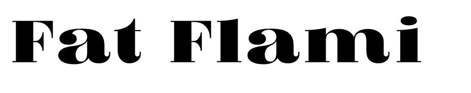Fat Flamingo 5 font
