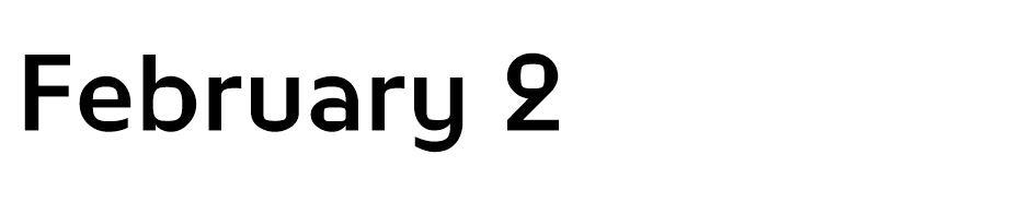 February - En Çok Kullanılan Yazı Fontları - Kalın Yazı Tipleri