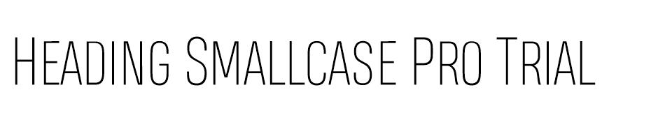 Heading Smallcase Pro Trial font