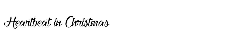 Heartbeat in Christmas font