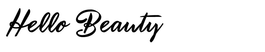 Hello Beauty font