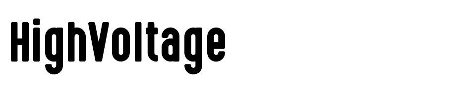 High Voltage font