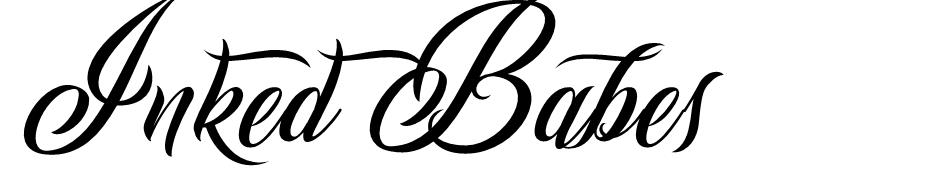 Inked Babes font