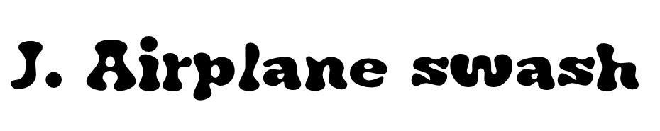 J. Airplane Swash Font Ailesi font